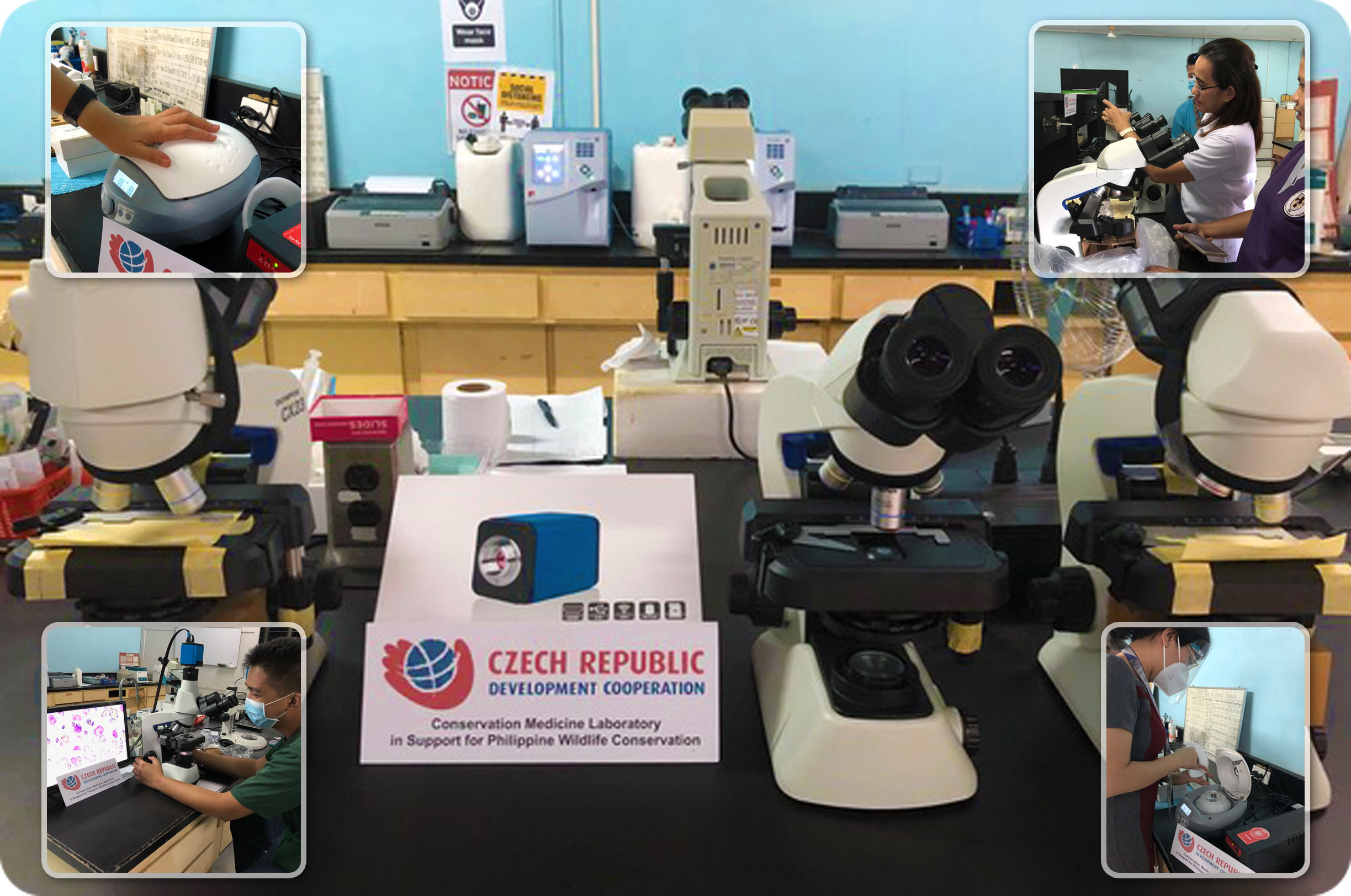 Microscopes for the Conservation Medicine Laboratory